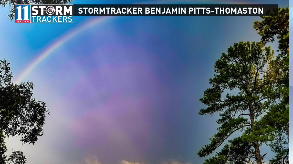 Nice pic from community StormTracker Benjamin Pitts after the storms moved through Thomaston. #11Alive