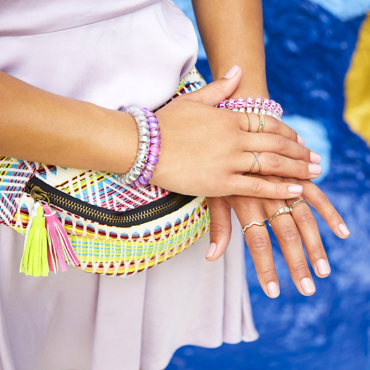 Mix and match your bracelets this summer 🌈💖 Shop our bracelets in store & online  #ItsAtClaireshttps://t.co/x4N243a7gg