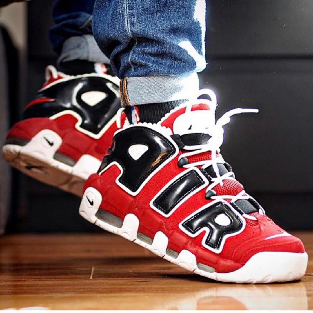 Nike Uptempo Chicago On Feet