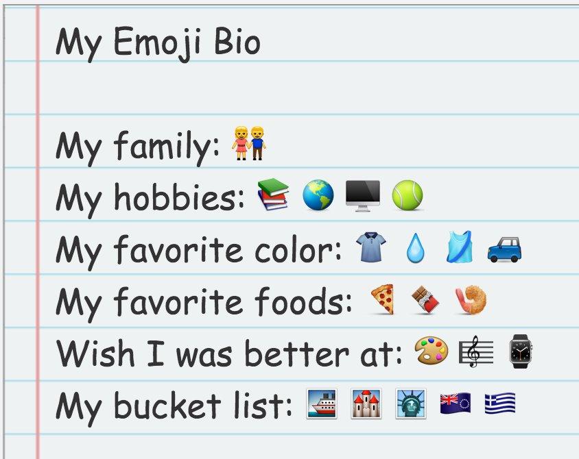 My Emoji Bio that I added to @Seesaw. #seesawchat #4thchat https://t.co/kaHEafAgm2