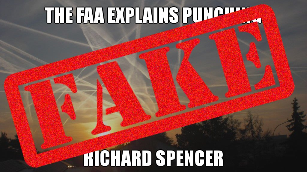 Baseless! The FAA does NOT explain punching Richard Spencer #fake @PolitiFact #wrong #debunked #troll @twitter #correction<br>http://pic.twitter.com/wRNuxv2SyB