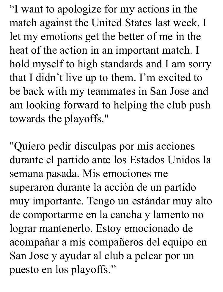 CONCACAF sanciona a Henry Romero y Darwin Ceren. DFibs7mWsAA-PJB