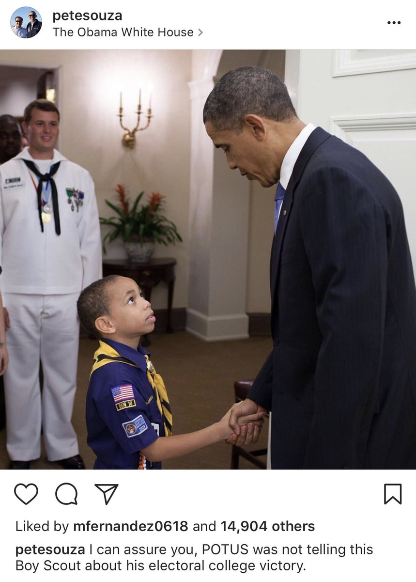 .@PeteSouza on Instagram responds to Trump's Boy Scouts speech