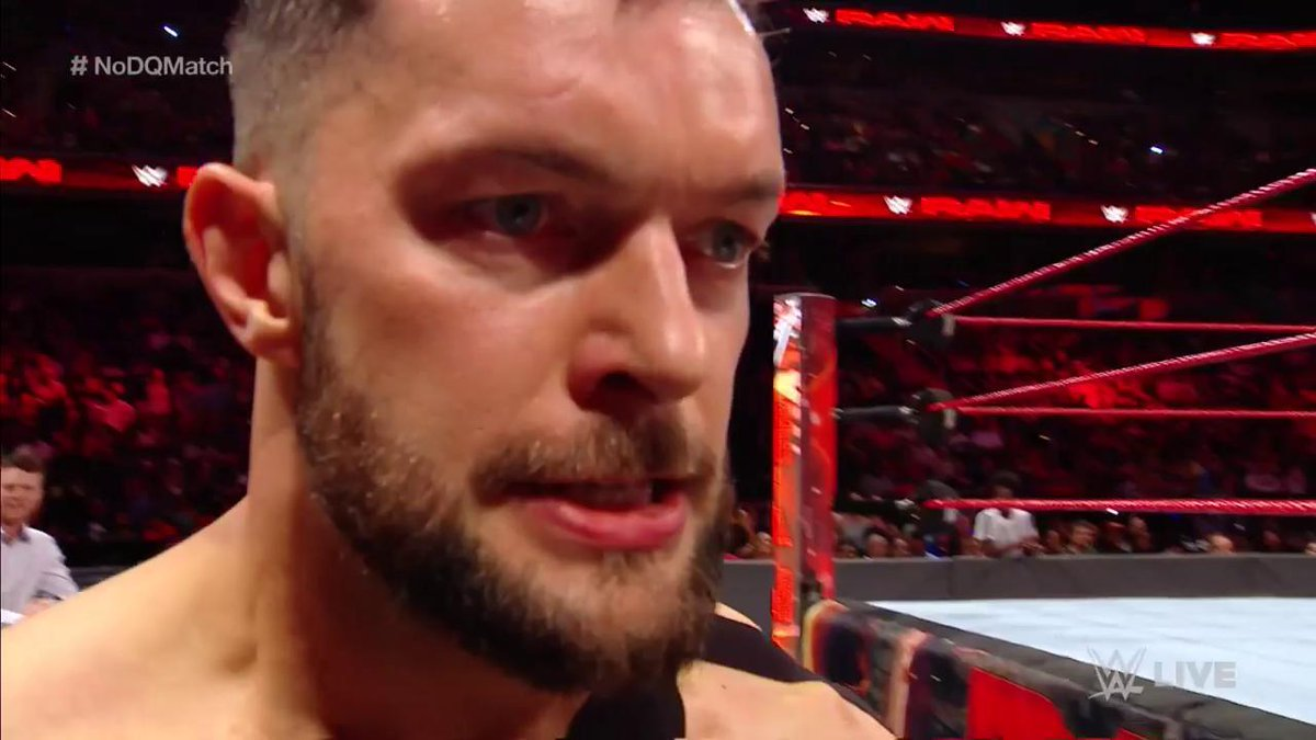 .@FinnBalor is absolutely ENRAGED tonight on #RAW... Good luck slowing...