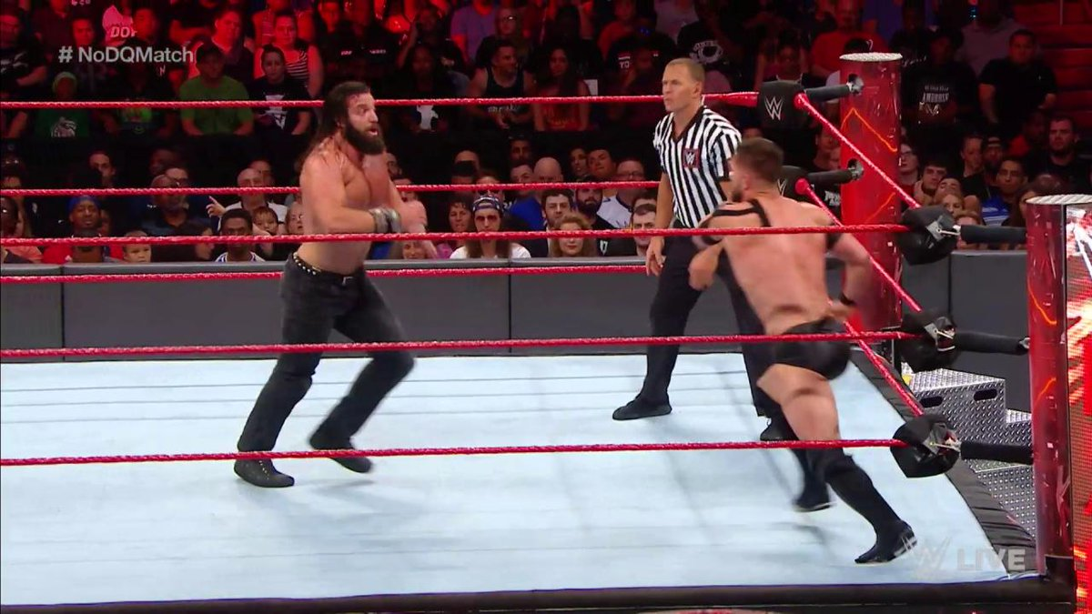 .@FinnBalor and @IAmSamsonWWE are NOT holding back as they battle in a...