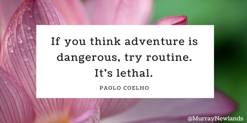 If you think adventure is dangerous, try...