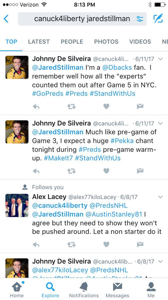 @canuck4liberty Preds didn't play Chicago on 6-11. Nice try. https://t...