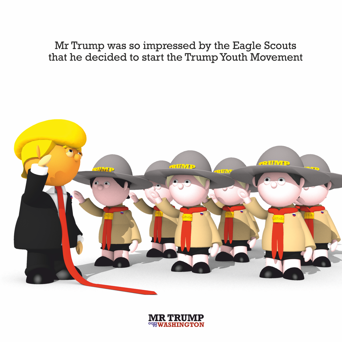 Mr Trump was so impressed by the Eagle Scouts that he decided to start the Trump Youth Movement  #Trump #trumpyouth