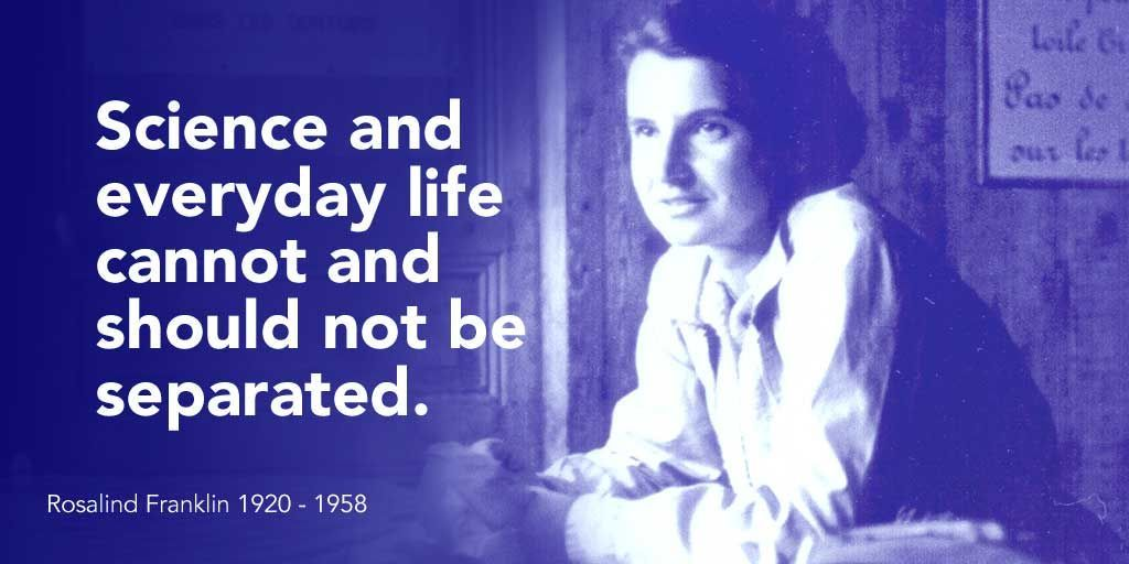 #OTD scientist Rosalind Franklin was born - her work made it possible to construct famous #DNA double helix model  #WomenInSTEM #STEM<br>http://pic.twitter.com/3QMdv9J3AW