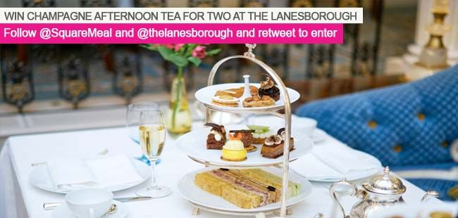 Win a Champagne #afternoontea for two. RT and follow  +  to be in with a chance to .  #win #SquareMeal