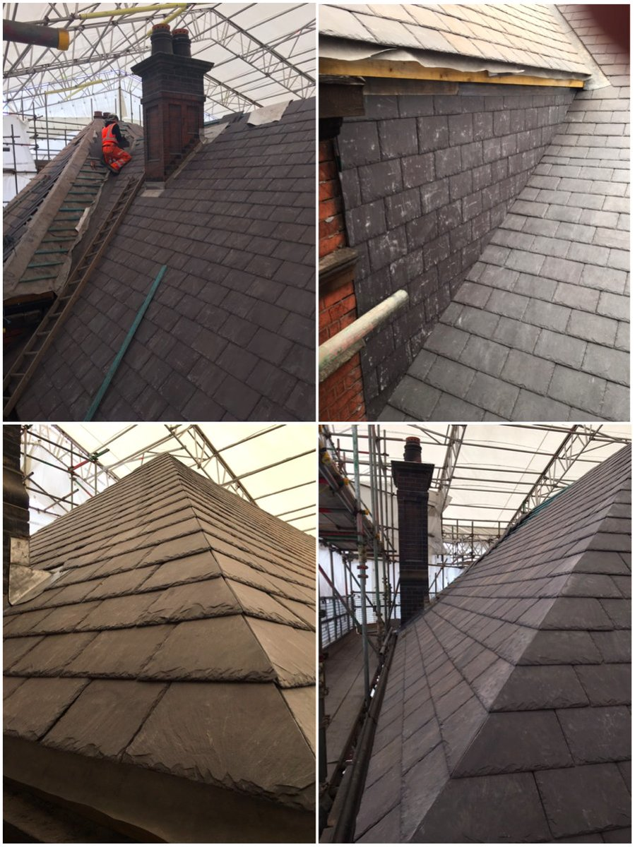 #Wigan Wallgate Station: Works are progressing well as the team carry on with the #slate details and #lead back #gutters…. #roofing #gradeII<br>http://pic.twitter.com/MzRakkru9S