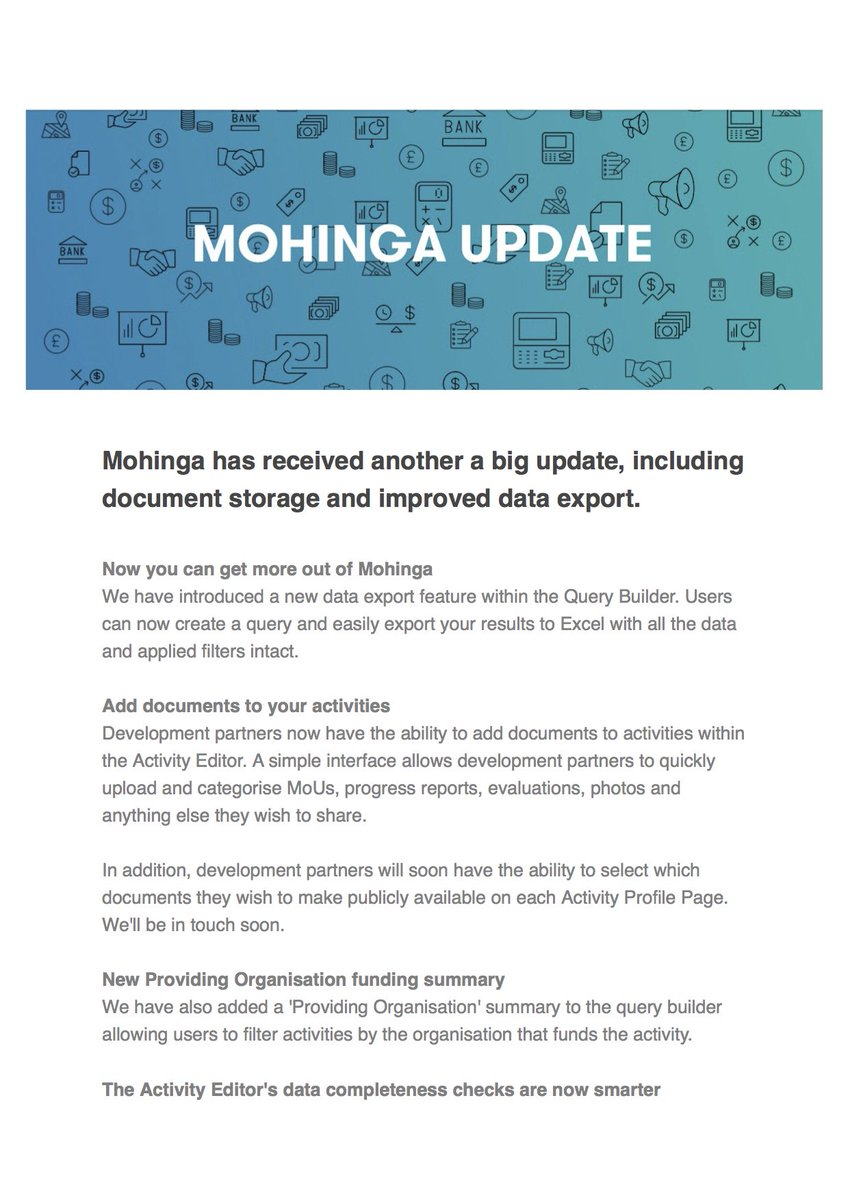 #Myanmar's Aid Mgmt System got a major upgrade!   More here:  http:// mailchi.mp/c6073f9e865d/u pdate-getting-more-out-of-mohinga &nbsp; …   Visit the #AIMS at  http:// mohinga.info  &nbsp;    #globaldev <br>http://pic.twitter.com/T6jZGau5Qk