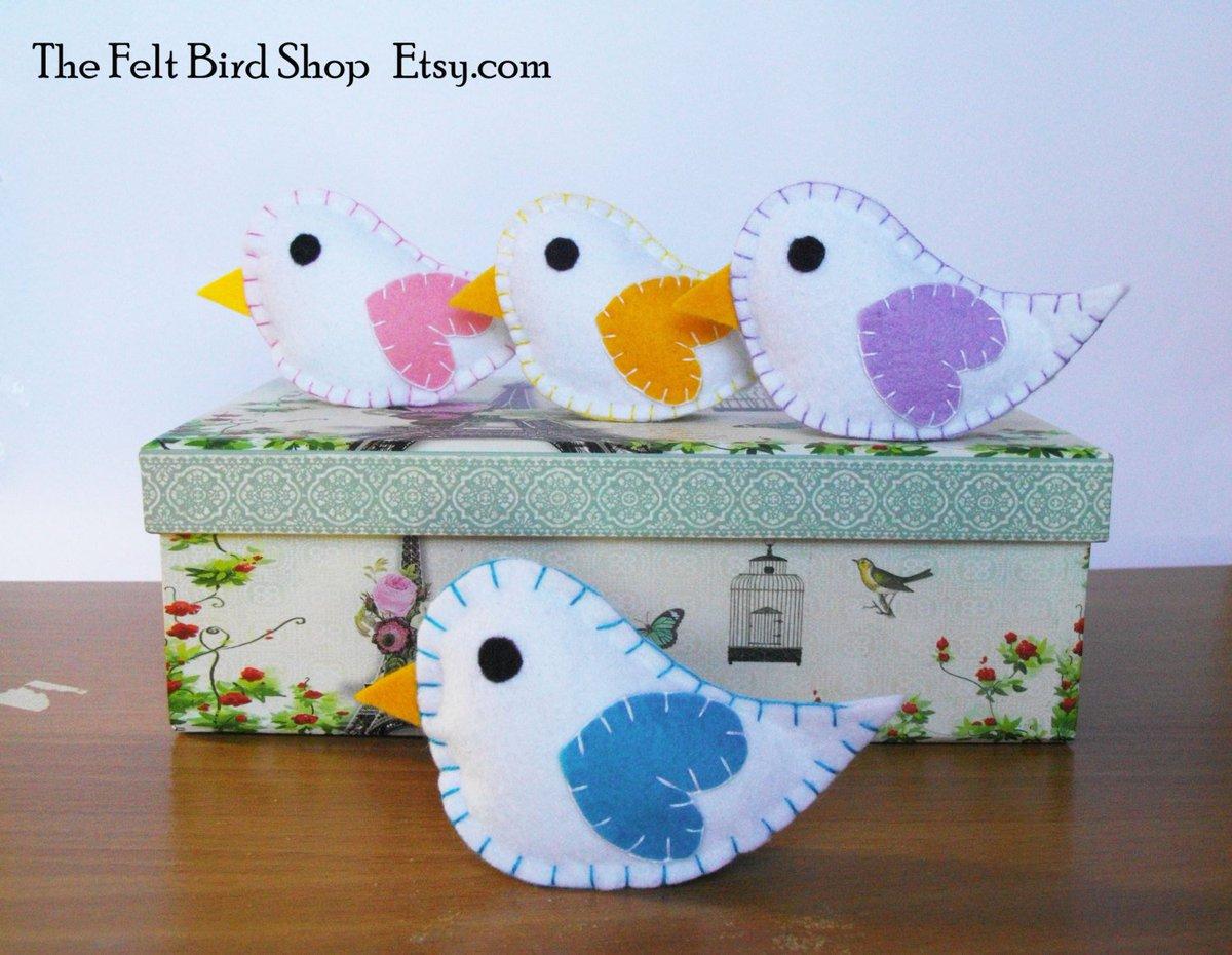 Cute Felt Birds, handmade in my shop:  http:// etsy.me/2trRe1I  &nbsp;   via @Etsy #ShoppersHour #BabyShower #Birds<br>http://pic.twitter.com/A3nbo6UtW1