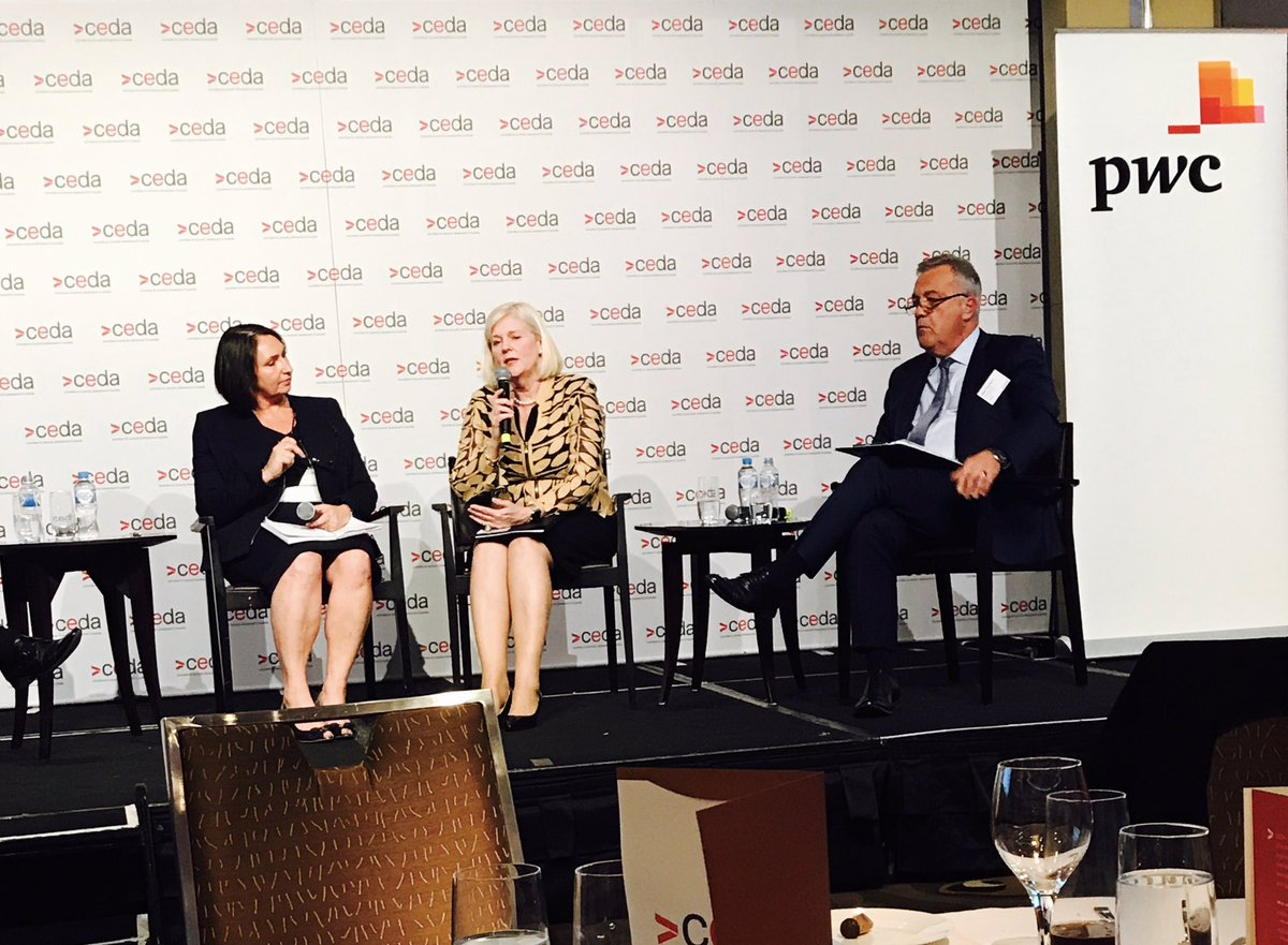 .@saracaplan @PwC_AU: &quot;Employers sharing how much they value apprentices is best way to boost #VET perceptions&quot; @ceda_news &amp; @karenandrewsmp<br>http://pic.twitter.com/87S2DOr84R