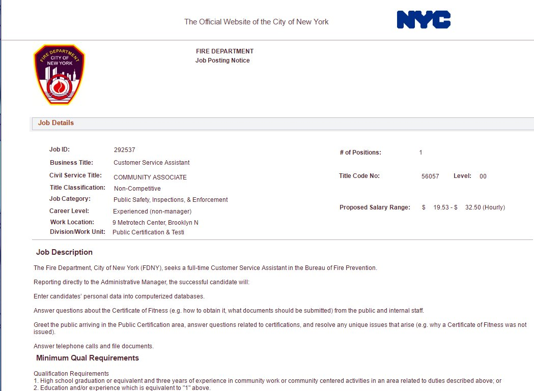 Nyc Ems Watch On Twitter Customer Service Assistant At Fdny Base
