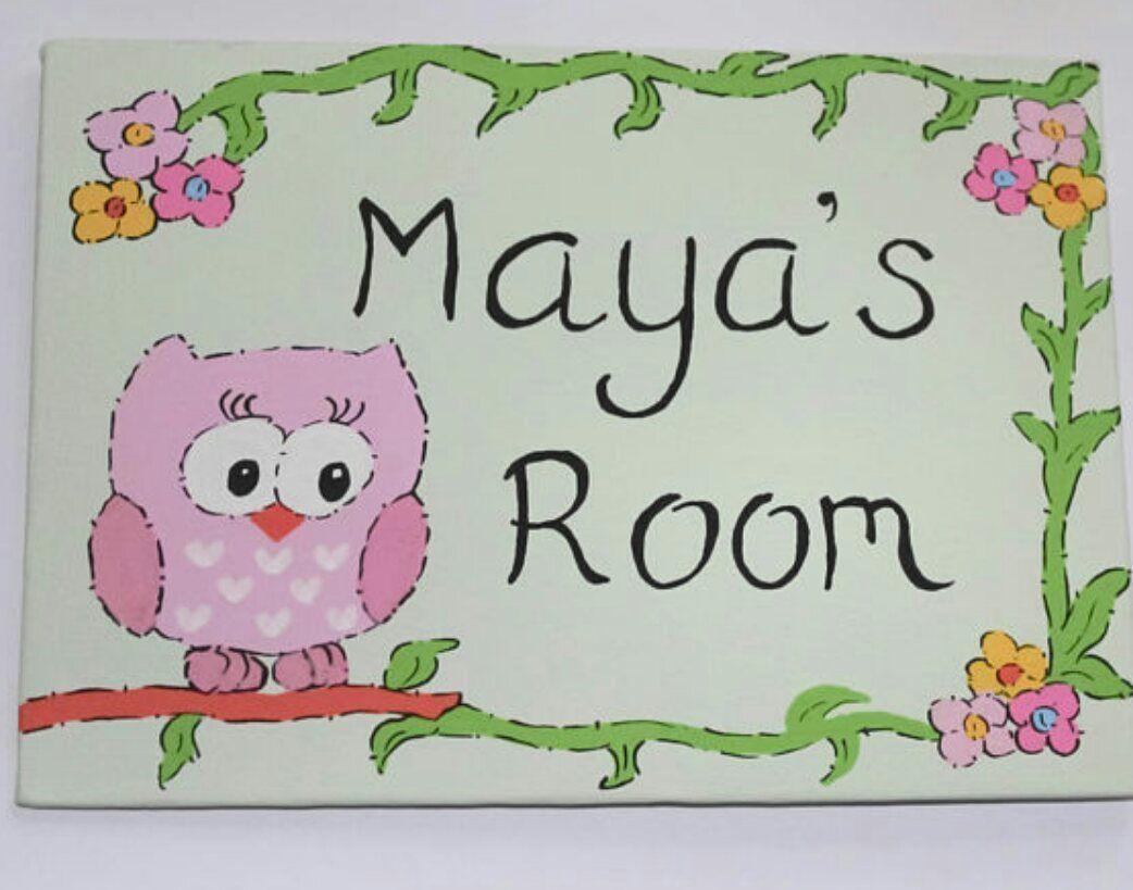 Owl girls bedroom door sign #etsymntt #epiconetsy #handmade  http:// buff.ly/2uQvwrN  &nbsp;  <br>http://pic.twitter.com/SQagwZj58z
