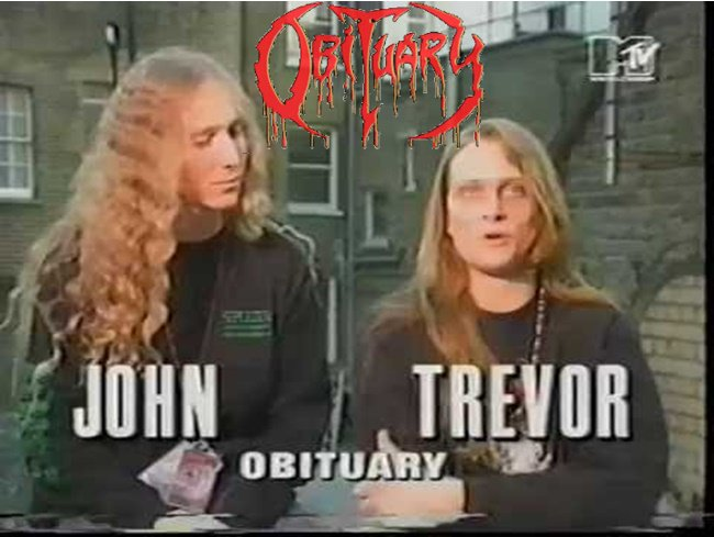 OBITUARY John Tardy &amp; Trevor Peres in interview for MTV  Brutal Bithday Trevor (Born July 25th, 1969) #OldSchool #DeathMetal #90s #Obituary<br>http://pic.twitter.com/gvnU0LKzgj