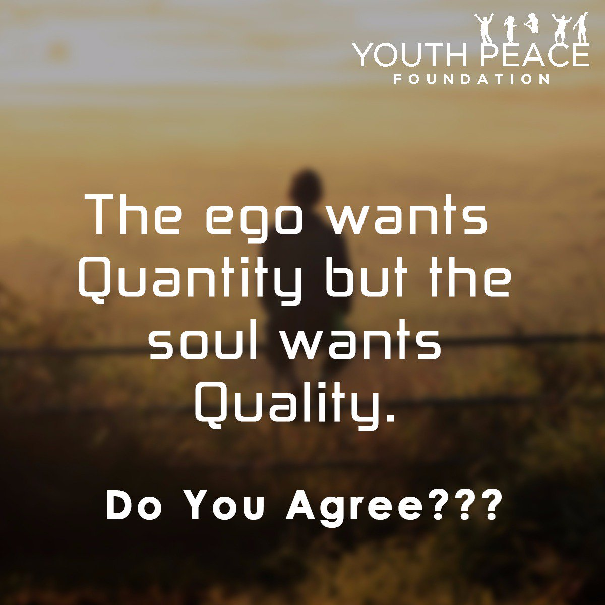 &quot;The #ego wants #quantity but the #soul wants #quality.&quot;  Do you agree??? <br>http://pic.twitter.com/tDw3ktEvn1