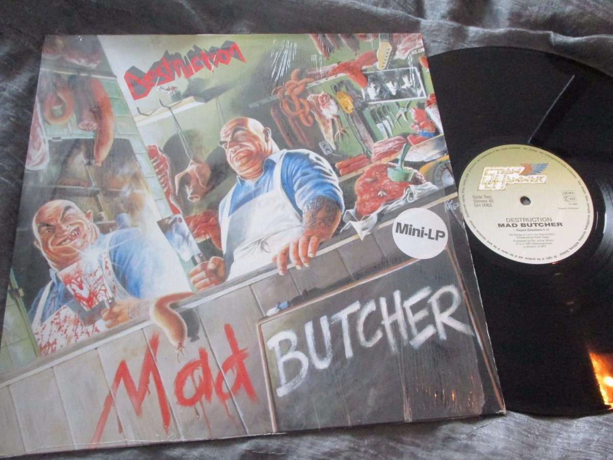 30 Anniversary  DESTRUCTION  &quot;Mad Butcher&quot; EP Release date July 25th, 1987  Label Steamhammer  #OldSchool #germany #ThrashMetal #80s <br>http://pic.twitter.com/etnln5CCSz