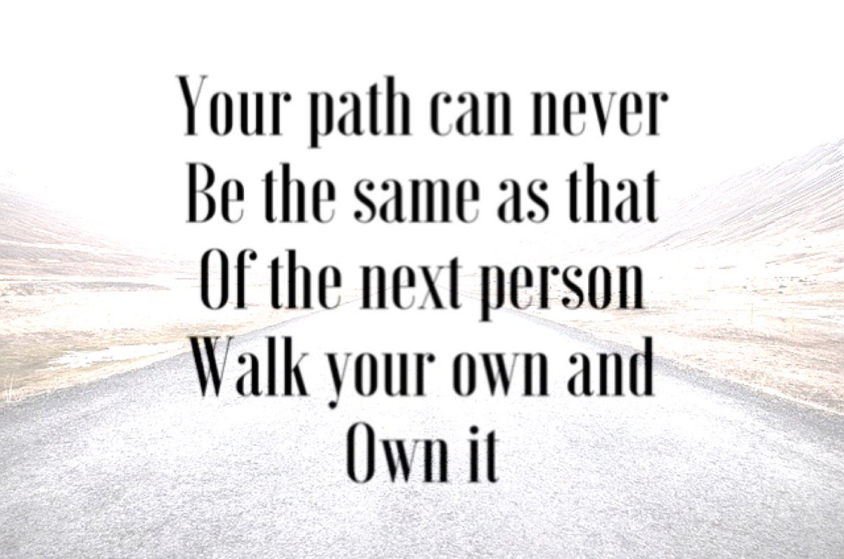 Your path is your own to walk, choose yours and walk it the best way you know how to.... #TuesdayMotivation #ChooseDay<br>http://pic.twitter.com/nX5UKIlRlZ