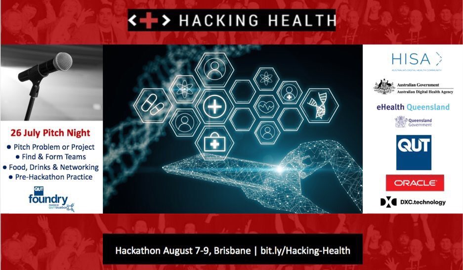 Tomorrow = #Hacking #Health #Pitch Night @QUT: share problems &amp; opportunities 2 #innovate &amp; improve #healthcare   http:// bit.ly/HHPitch  &nbsp;  <br>http://pic.twitter.com/E0Ui1fnMpm