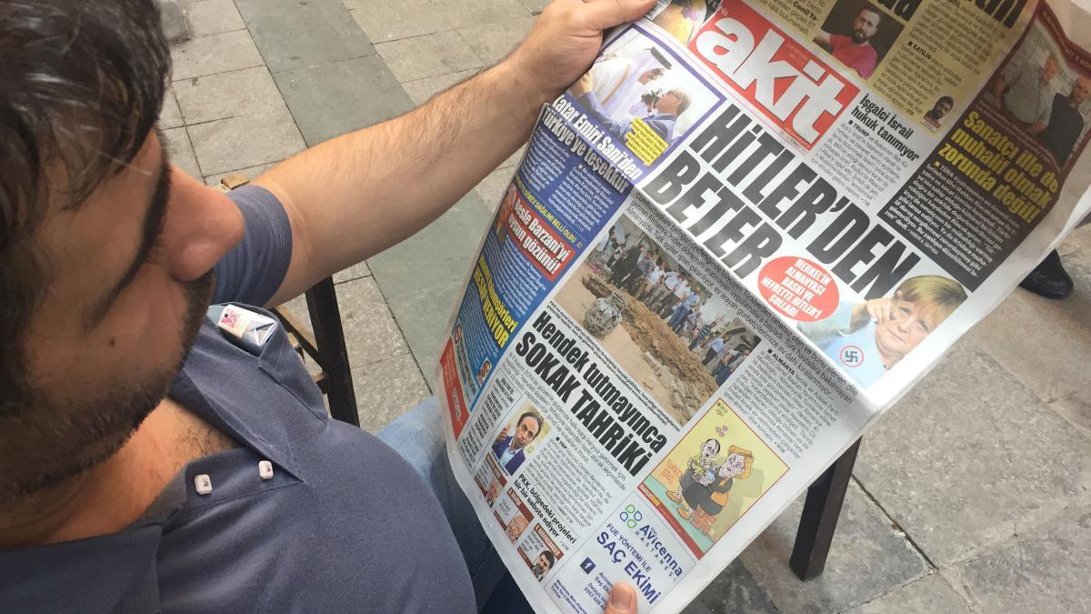 Türkische Zeitung nennt Merkel 'schlimmer als Hitler' https://t.co/LrPw1xsFCC