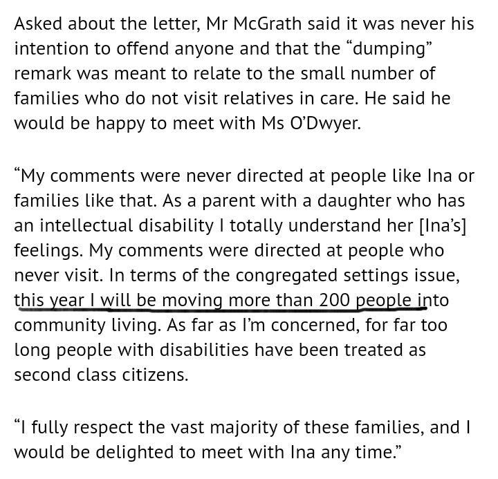 In response to mom&#39;s letter Finian McGrath says HE will be MOVING 200 people this year. HE will be moving THEM. #specialneeds #disability <br>http://pic.twitter.com/R6MV3mtYcg