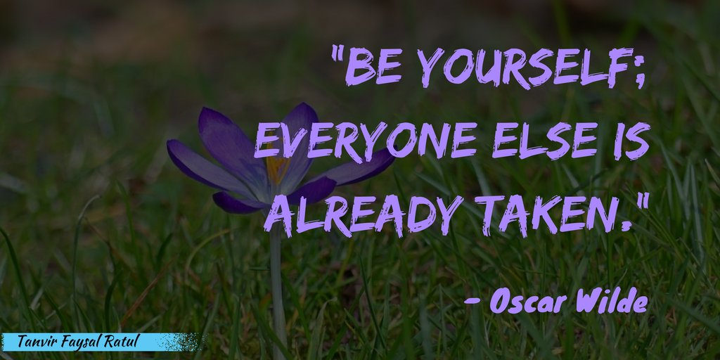 Be yourself; everyone else is already taken. #Motivation #Inspiration #Life<br>http://pic.twitter.com/91kVd9wRo9