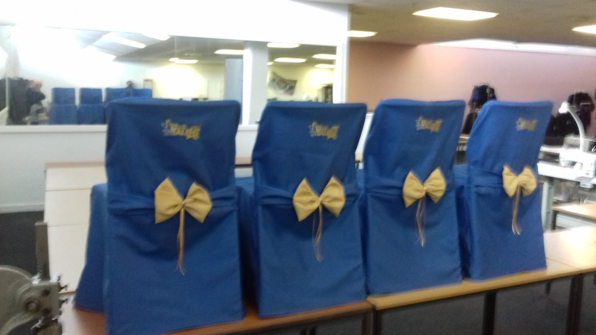 SEWING ROOMS HALTON up and running first commercial  contract Chair covers -Halton got Talent #BUYSOCIAL  #SOCIALENTERPRISE  #MADEINBRITAIN<br>http://pic.twitter.com/s40V2A52kr