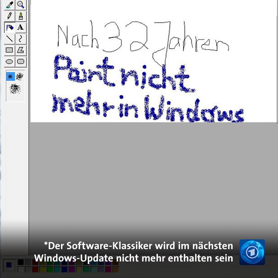 Das Ende einer ✏️-Ära. #Paint #Windows