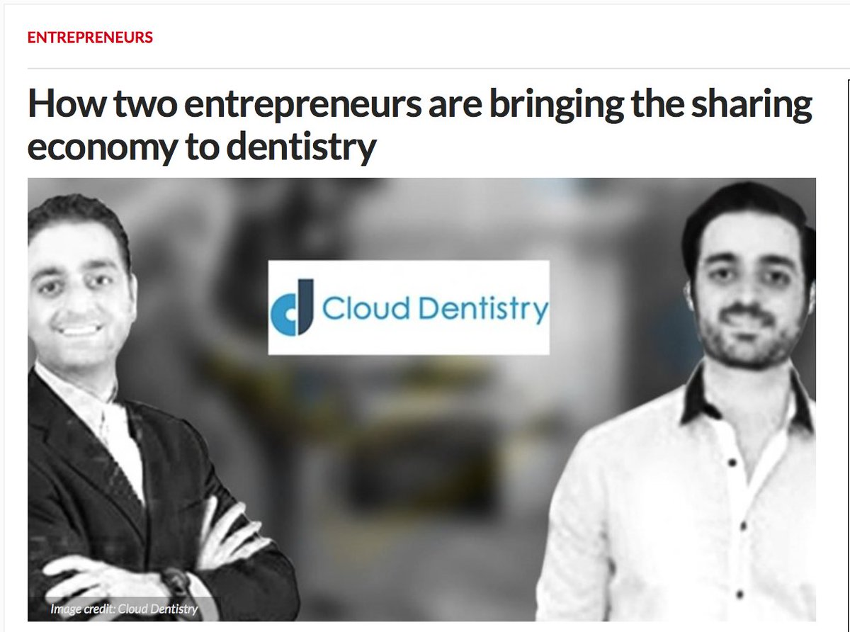Two entrepreneurs are bringing the #sharingeconomy to dentistry #dentistry #Employment #Sharing #entrepreneurs  https://www. entrepreneur.com/article/297652  &nbsp;  <br>http://pic.twitter.com/Mm11i7Wht9