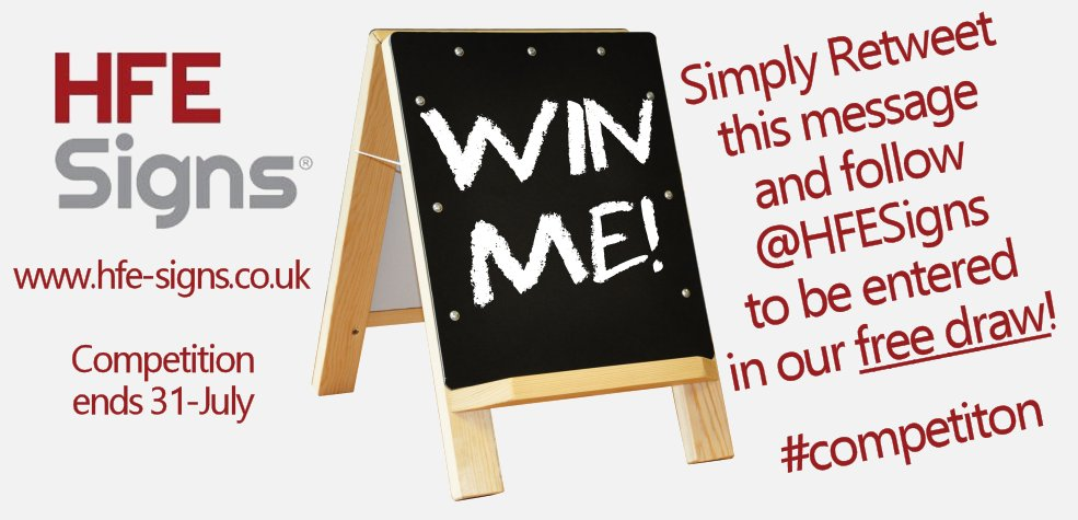 Here&#39;s a chance to #win this desktop #chalkboard worth over £16 - just RT and follow! #competition #HFESigns #print #banners #signs<br>http://pic.twitter.com/RLlwp3UEeV