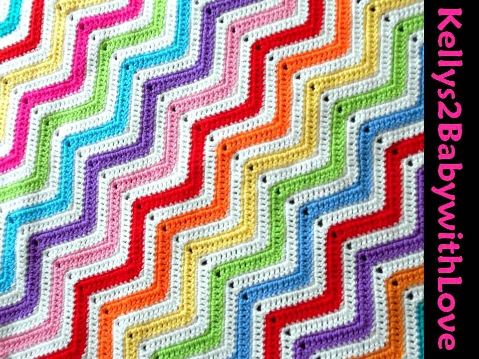 White &amp; Coloured Handmade Random Zig-Zag Striped Baby Crochet Cot Pram B…  http:// etsy.me/2qH2HfY  &nbsp;   #Blanket #Handmade<br>http://pic.twitter.com/aWZcuQEMRs