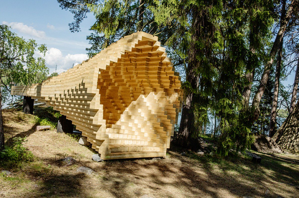 Y #pavilion in finland reveals the possibilities of #wood in #modern #construction --&gt;  https:// goo.gl/EbDRXS  &nbsp;  <br>http://pic.twitter.com/qNRnS1k9hY