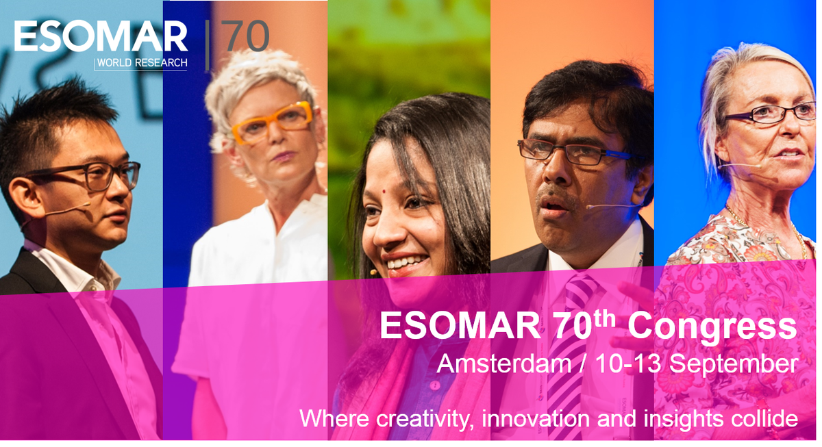 3 stages of content at this year's 70th #ESOMAR #Congress!  http:// bit.ly/2pYPiP1  &nbsp;   #datascience #growthhacking #mrx #businessintelligence<br>http://pic.twitter.com/kuhI34R7ep