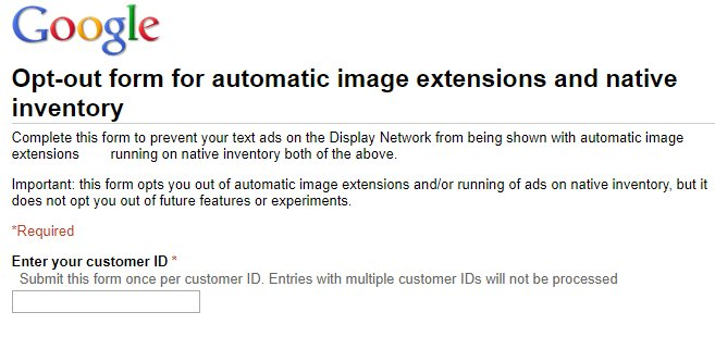 How many of you have done this and why? (Opt-Out of Automatic Image Extensions + Native Inventory)  https:// docs.google.com/forms/d/e/1FAI pQLSeUxJ__3lSI5c6TVsrvq1roqKln_qtkTTa8_d6I9rouADj49g/viewform &nbsp; …  #ppcchat #PPC <br>http://pic.twitter.com/7CstiuE2wv