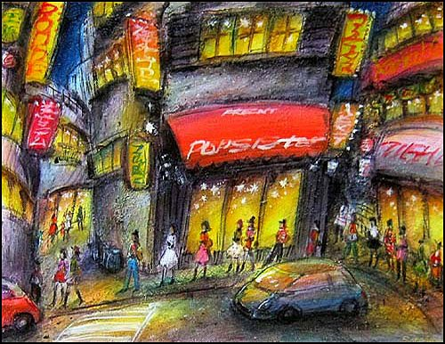 #painting #artgallery #art #絵画 #画廊 #artist #cityscape #modernart #artlover #artcollector #modernpainting #tokyo Neon Dream108 oil on canvas<br>http://pic.twitter.com/lBqJ7CRGzH