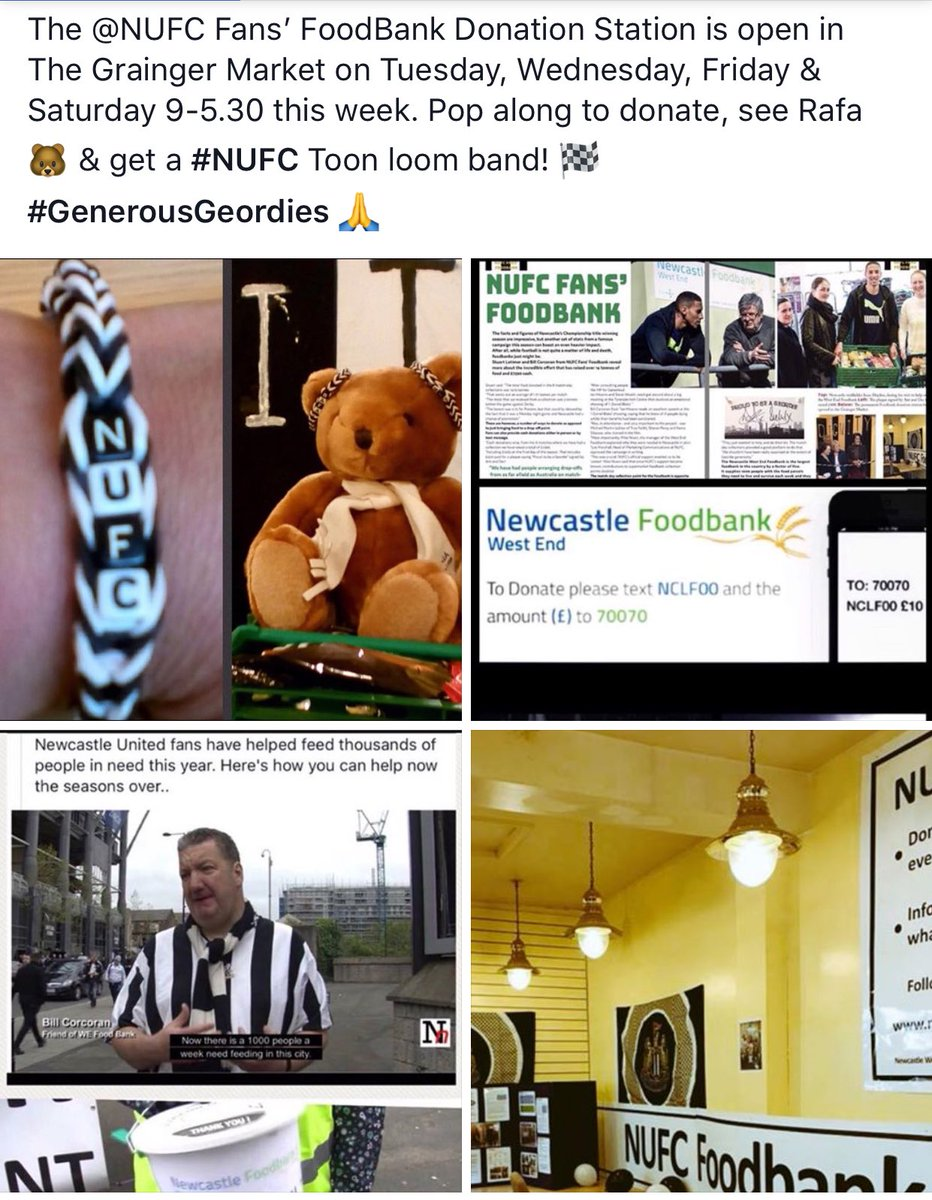 Help beat School #HolidayHunger - the @NUFC Fans' FoodBank Donation Station is open Tues, Wed, Fri &amp; Sat (NOT Thurs) Everything helps. #NUFC <br>http://pic.twitter.com/kifCY7ipQo