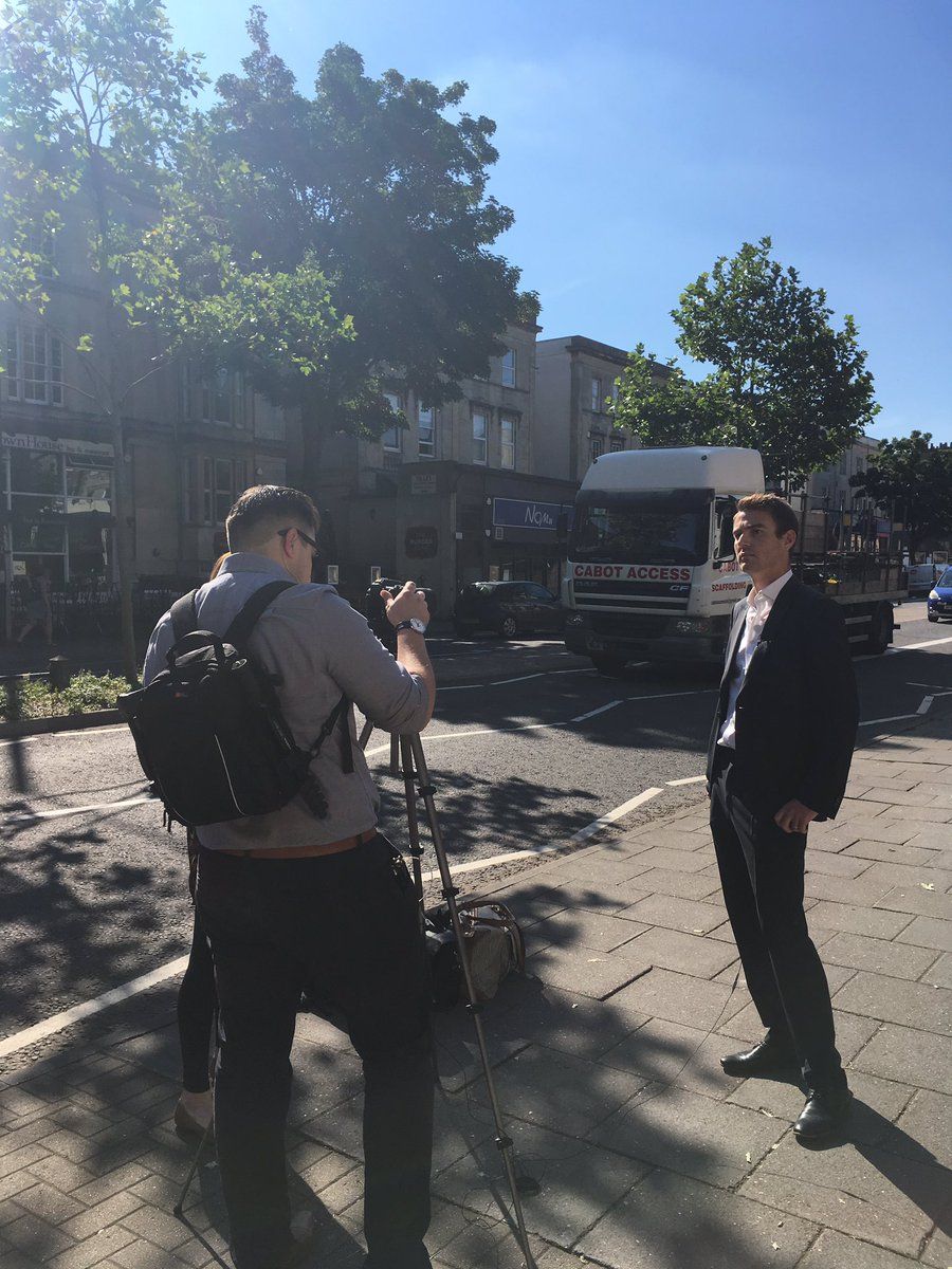 And we are off! We interview Kevin Conibear @fleurets on Whiteladies Street #bristol for our #ontheroad tour @eatoutmag @RawlingsonLane<br>http://pic.twitter.com/2fAXFMR1yv