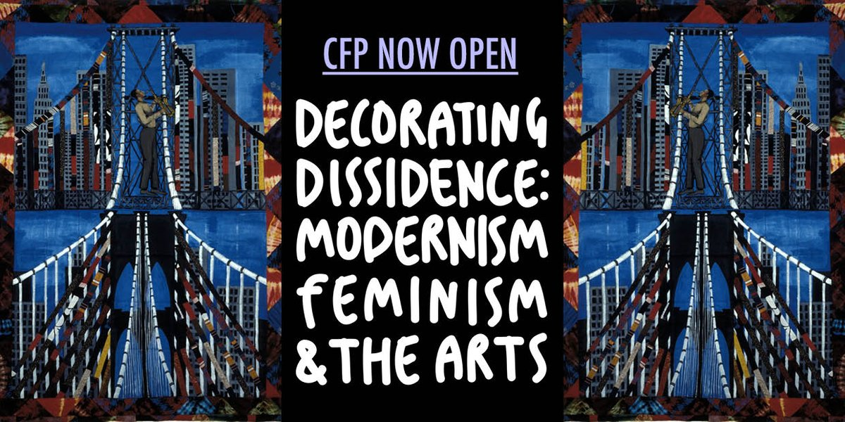 Our #CFP is open until Sept 8th! #modernism #craft #arthistory -  https:// decoratingdissidence.wordpress.com/call-for-paper s/ &nbsp; … <br>http://pic.twitter.com/uTqBiZkQnT