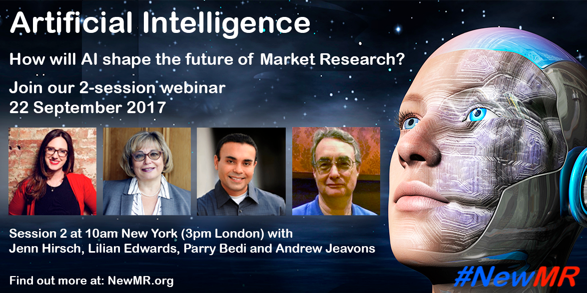 Check out our #AI event Session 2 speakers! Register to listen to these presenters and others on 22 Sept  http:// buff.ly/2urSAut  &nbsp;   #NewMR #MRX<br>http://pic.twitter.com/05koq3Ib9d