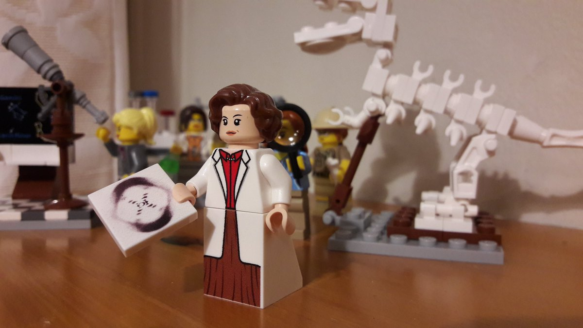 Happy birthday #RosalindFranklin! As a remarkable, innovative scientist, it seems only right that you&#39;re PI of my #Lego lab  #womeninstem <br>http://pic.twitter.com/odws8rtlkA