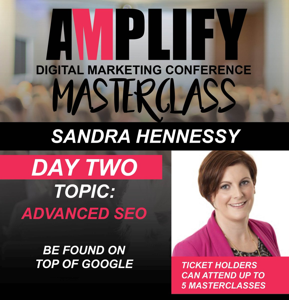 One of the many reasons to attend @Amplify_Digital in #Cork   Learn about #SEO from @SandraHennessy #MASTERCLASS  #AmplifyDigi #businesstips <br>http://pic.twitter.com/HzayebZBSJ