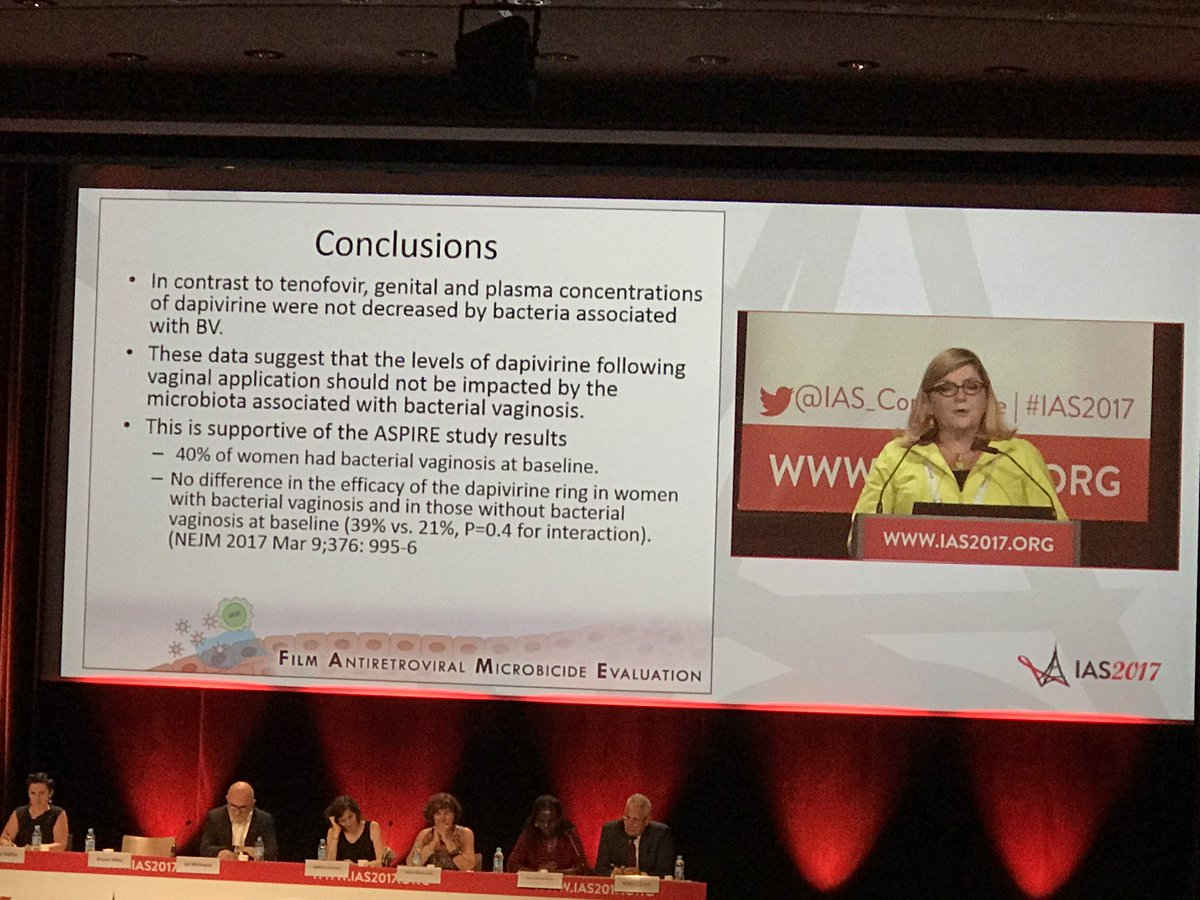 Preventing #HIV infection in #women, must consider impact of #bacteria associated with BV when developing new products #PrEP #IAS2017<br>http://pic.twitter.com/hJcmvqTJ4v