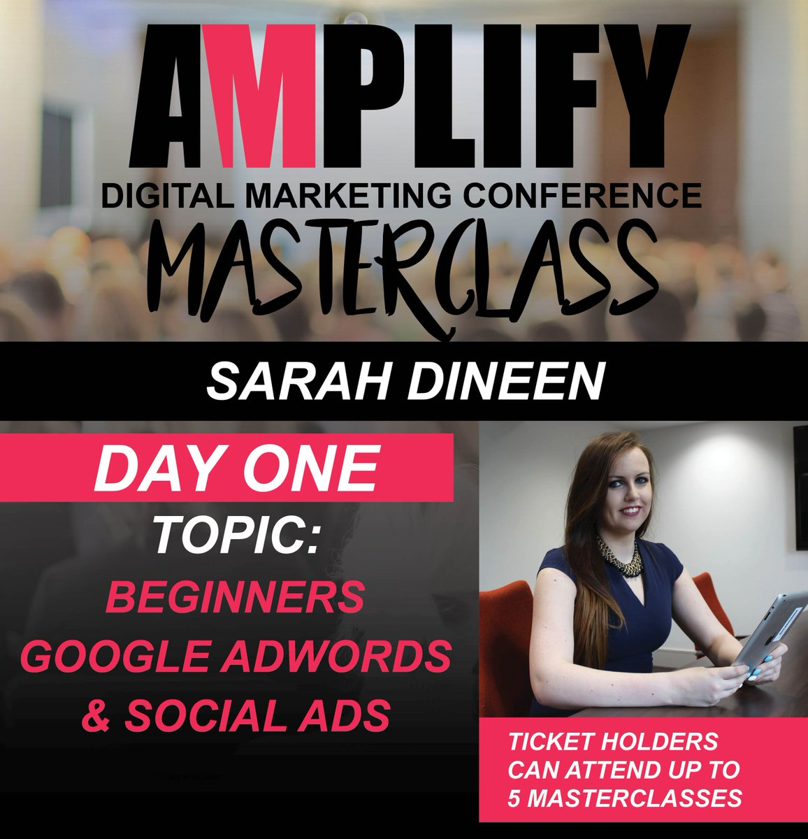 Don&#39;t miss our very own @sarahamplify founder of @socialque_&amp; @Amplify_Digital, learn and master #GoogleAdWords   #Cork #AmplifyDigi<br>http://pic.twitter.com/2KTmJqUzPV