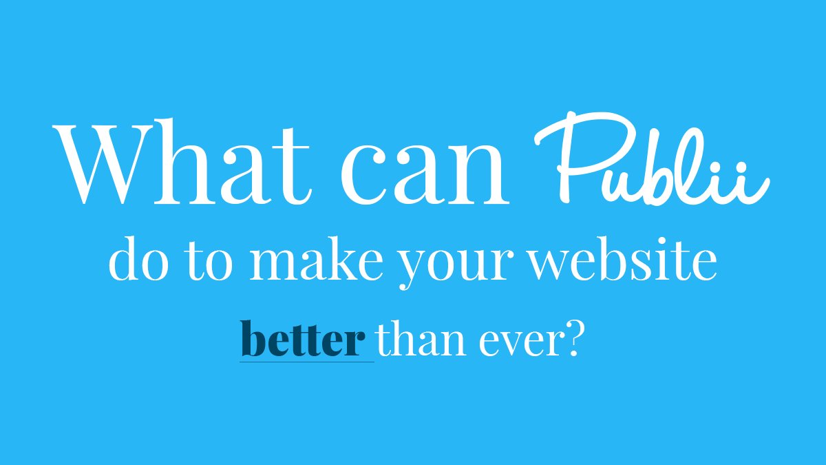 What can @GetPublii #Static #CMS do to make your website better than ever? #webdev #website #html  https:// getpublii.com/blog/publii-ma ke-your-website-better-than-ever.html &nbsp; … <br>http://pic.twitter.com/2PjvgmYjKb