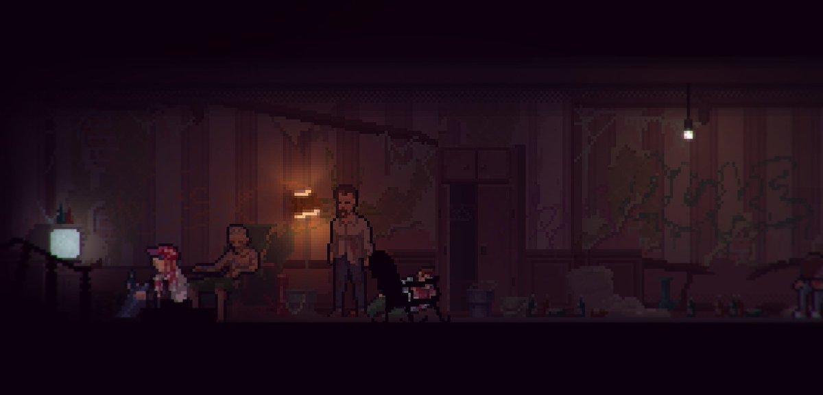 Dark and creepy. Love testing @TheLongReach game  #gamedev #indiedev #pixelart #gaming  #gamersunite #art #indiegame<br>http://pic.twitter.com/TWk3nruyCZ