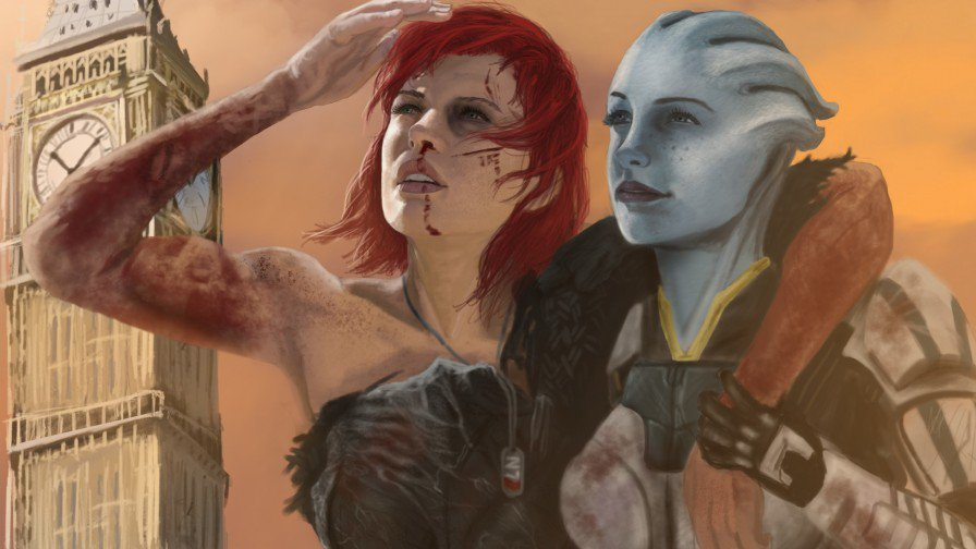 #4K #wallpaper Mass Effect Commander Shepard Liara T&#39;soni  http:// dlvr.it/PYKllz  &nbsp;  <br>http://pic.twitter.com/dAJ9E6ddYI