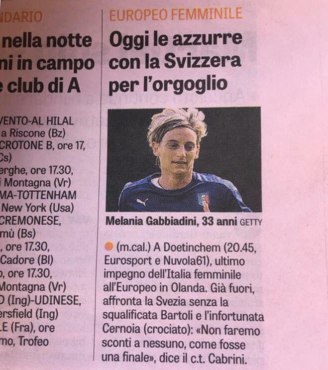 RT so everyone knows how @Gazzetta_it (&quot;best&quot; sport mag in italy) doesn&#39;t even know who we&#39;re playing against #weuro2017 #ITA #SWE #SWEITA<br>http://pic.twitter.com/JQBHcWHmWM