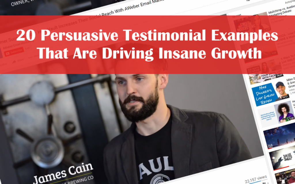 20 Persuasive Testimonial Examples That Are Driving Insane Growth - VocalReferences Blog  http:// buff.ly/2v2fBak  &nbsp;   #reviews #growth <br>http://pic.twitter.com/MUmKouWkOa